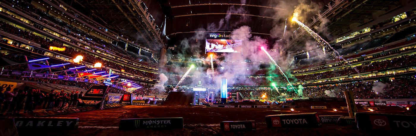 Fireworks shot at Supercross